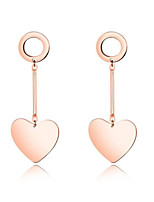 economico -Per donna Nappa / Alla moda Orecchini a cerchio - Oro rosa, Oro 18k Oro rosa Per Matrimonio / Quotidiano