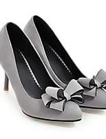 Недорогие -Жен. Обувь Полиуретан Весна Туфли лодочки Обувь на каблуках На шпильке Черный / Серый / Красный