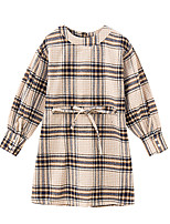 cheap -Kids Girls' Active Houndstooth Long Sleeve Dress