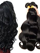 billiga -6 paket Peruanskt hår Vågigt Äkta hår Human Hår vävar / bunt hår / En Pack Lösning 8-28 tum Hårförlängning av äkta hår Maskingjord Bästa kvalitet / Till färgade kvinnor / 100% Jungfru Naurlig färg