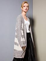 cheap -8CFAMILY Women's Active / Basic Cardigan - Color Block, Split
