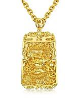 Недорогие -Муж. Стильные Ожерелья с подвесками - Позолота 18К Мода Cool Золотой 61 cm Ожерелье Бижутерия 1шт Назначение Подарок, Повседневные