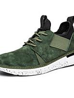 Недорогие -Муж. Комфортная обувь Кожа Весна Кеды Черный / Серый / Зеленый