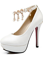 Недорогие -Жен. Комфортная обувь Полиуретан Весна Обувь на каблуках На шпильке Белый / Черный / Красный