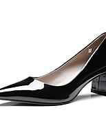Недорогие -Жен. Комфортная обувь Лакированная кожа Лето Обувь на каблуках На толстом каблуке Черный / Розовый / Винный