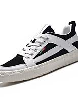 cheap -Men's Pigskin / PU(Polyurethane) Fall Comfort Sneakers Color Block White / Black