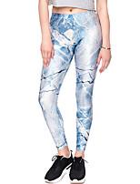 abordables -Mujer Diario Básico Legging - Galaxia Media cintura