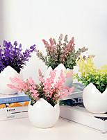 Недорогие -Искусственные Цветы 1 Филиал Классический / Односпальный комплект (Ш 150 x Д 200 см) Стиль Светло-голубой Букеты на стол