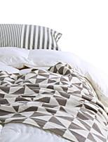 baratos -Super Suave, Impressão Reactiva Xadrez Algodão cobertores
