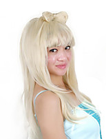 abordables -Perruque Synthétique / Perruques de Déguisement Droit Coupe Carré Cheveux Synthétiques 32 pouce Cosplay / Grosses soldes / Adorable Blanc Perruque Femme Très long Fabriqué à la machine Blanc
