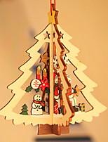 baratos -Enfeites de Natal Férias De madeira Quadrada de madeira / Novidades Decoração de Natal
