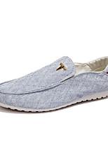 Недорогие -Муж. Комфортная обувь Полотно Весна лето Классика Мокасины и Свитер Дышащий Светло-синий / Бежевый