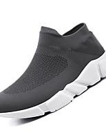 cheap -Men's Mesh / Elastic Fabric Fall Comfort Loafers & Slip-Ons Black / Gray