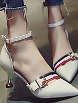 Недорогие -Жен. Обувь Полиуретан Весна & осень Удобная обувь / Туфли лодочки Обувь на каблуках На шпильке Черный / Бежевый / Желтый