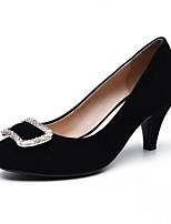 Недорогие -Жен. Комфортная обувь Овчина Весна Обувь на каблуках На шпильке Черный