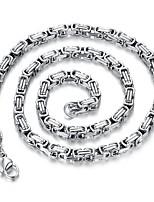 Недорогие -Муж. Одинарная цепочка длинное ожерелье - Титановая сталь Креатив Камни, корейский Серебряный 60 cm Ожерелье Бижутерия 1шт Назначение Повседневные