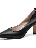 Недорогие -Жен. Наппа Leather Осень Удобная обувь Обувь на каблуках На шпильке Черный / Коричневый
