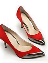 Недорогие -Жен. Балетки Сатин Весна Свадебная обувь На шпильке Черный / Бежевый / Красный / Свадьба