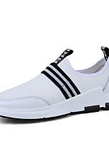 Недорогие -Муж. Комфортная обувь Наппа Leather Лето Кеды Белый / Черный