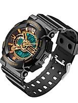 Недорогие -SANDA Муж. Спортивные часы / электронные часы Японский Календарь / Защита от влаги / Хронометр Plastic Группа Роскошь / Мода Черный / Белый / Небесно-голубой