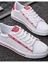 Недорогие -Муж. Комфортная обувь Полиуретан Весна & осень На каждый день Кеды Черно-белый / Розовый и белый / Wit En Groen
