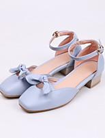 abordables -Femme Chaussures Polyuréthane Eté Confort / Escarpin Basique Chaussures à Talons Talon Bas Beige / Bleu / Rose