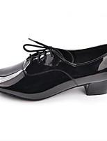 Недорогие -Муж. Обувь для латины Полиуретан Оксфорды Толстая каблук Танцевальная обувь Черный