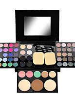 Недорогие -Makeup 54 Цвета Тени для век Консилер / Румянец / Highlighter Водонепроницаемый / Сборное / прочный Водонепроницаемость Компактность Повседневный макияж / Макияж для вечеринки Составить косметический
