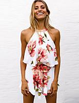 baratos -Mulheres Blusa Floral Saia