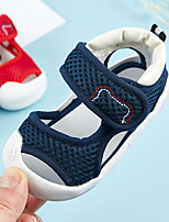 cheap -Boys' / Girls' Shoes Cotton Summer First Walkers Sandals Magic Tape for Baby Dark Blue / Red
