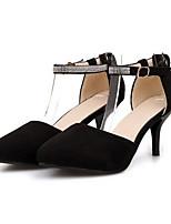Недорогие -Жен. Комфортная обувь Полиуретан Лето Обувь на каблуках На шпильке Черный / Красный / Синий
