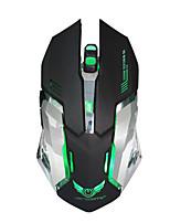 Недорогие -Factory OEM Беспроводная 2.4G Gaming Mouse 6 pcs ключи LED подсветка 4 Регулируемые уровни DPI 6 программируемых клавиш 3200 dpi