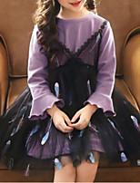 cheap -Kids Girls' Geometric Long Sleeve Dress