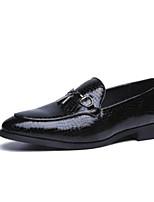 Недорогие -Муж. Полиуретан Весна / Осень Удобная обувь Мокасины и Свитер Черный