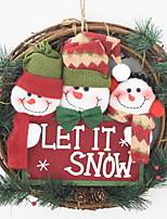 economico -Ornamenti di Natale Vacanza Stoffa (cotone) Tonda Cartoni animati / Originale Decorazione natalizia