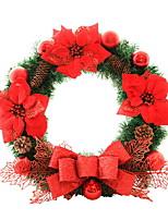 baratos -Guirlandas / Enfeites de Natal Férias De madeira Redonda Novidades Decoração de Natal
