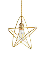 cheap -Modern Gold Metal Mini Pendant Lights Twisted Cord Bedroom Dining Room Cafe Bars Light Fixture Painted Finish