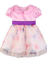 abordables -bébé Fille Fleur Manches Courtes Robe