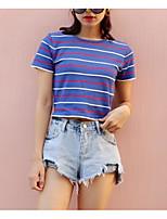 Недорогие -Жен. На выход С короткими рукавами Тонкие Пуловер - Контрастных цветов