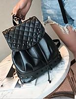 Недорогие -Жен. Мешки PU рюкзак Молнии Черный / Светло-серый