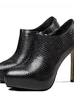 Недорогие -Жен. Балетки Наппа Leather Весна & осень Обувь на каблуках На шпильке Черный / Вино
