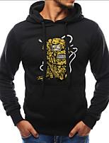 cheap -men's plus size long sleeve slim hoodie - character hooded