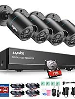cheap -SANNCE 4CH 4PCS 720P Security System 1TB HD AHD DVR HDMI IR Night Vision Outdoor CCTV Camera Home Surveillance Kits