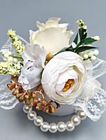 "baratos -Bouquets de Noiva Alfinetes de Lapela / Buquê de Pulso Casamento / Festa Poliéster 1.97""(Aprox.5cm)"