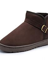 Недорогие -Жен. Комфортная обувь Синтетика Зима Ботинки На плоской подошве Серый / Желтый / Темно-коричневый