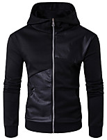 cheap -Men's Street chic / Punk & Gothic Hoodie - Solid Colored