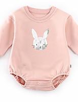 Недорогие -малыш Девочки Классический Однотонный / С принтом Длинный рукав Bodysuit / Дети (1-4 лет)