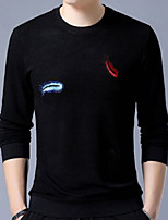 cheap -Men's Sports Long Sleeve Sweatshirt - Geometric Round Neck