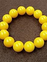 abordables -Homme Perles Bracelets de rive - Créatif, Balle Asiatique, simple, Ethnique Bracelet Jaune Pour Quotidien / Plein Air
