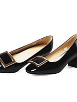 baratos -Mulheres Sapatos Couro Ecológico Primavera Plataforma Básica Saltos Salto Robusto Preto / Vermelho / Rosa claro